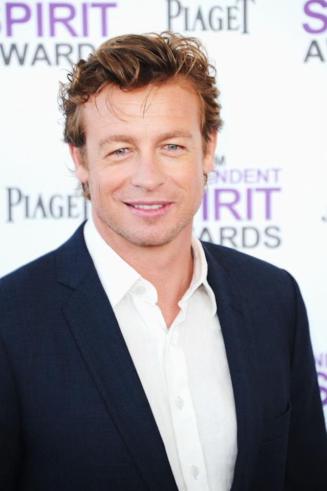 SANTA MONICA, CA - FEBRUARY 25:  Actor Simon Baker arrives at the 2012 Film Independent Spirit Awards on February 25, 2012 in Santa Monica, California.  (Photo by Alberto E. Rodriguez/Getty Images)