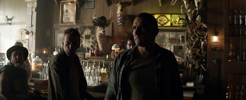 "Vinnie Jones (right) stars as an English gangster who runs afoul of some West Virginia locals in ""The Big Ugly."""