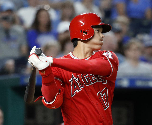 The Ohtani show played on Thursday night at Kauffman Stadium as it has for 10 days now. (AP)