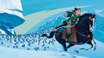 """<p>disneyplus.com</p><p><a href=""""https://go.redirectingat.com?id=74968X1596630&url=https%3A%2F%2Fwww.disneyplus.com%2Fmovies%2Fmulan%2F85wmj4hahA0B&sref=https%3A%2F%2Fwww.redbookmag.com%2Flife%2Fg34929170%2Fbest-disney-movie1%2F"""" rel=""""nofollow noopener"""" target=""""_blank"""" data-ylk=""""slk:WATCH NOW"""" class=""""link rapid-noclick-resp"""">WATCH NOW</a></p><p>We all loved the live-action version, but the 1998 animated version is still one of Disney's best films. In order to save her father from certain death in the army, Fa Mulan takes his place disguising herself as a man to fight against the invading Hun army. Comic relief is provided by the small dragon Mushu, voiced by Eddie Murphy.</p>"""
