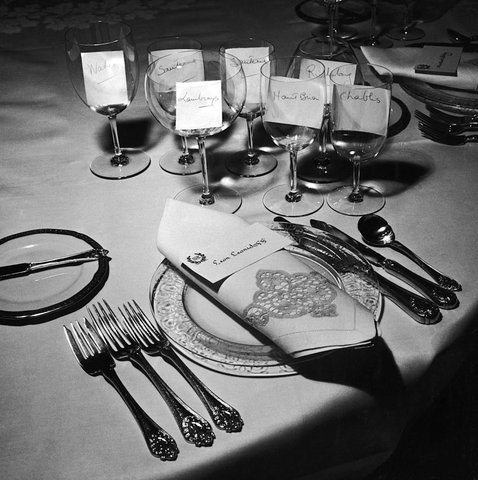 <p>Some parties were more free-form, but if you had a formal dinner party, place cards were a must. For a great party, it was up to the host to seat their guests next to people they would have something in common with to talk about.</p>