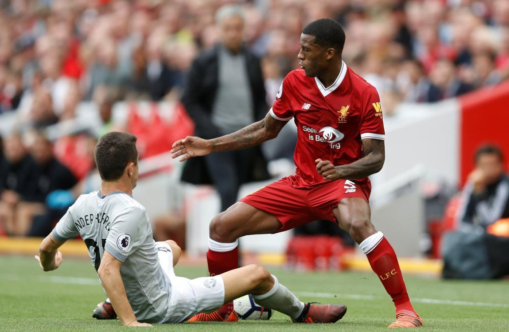 Georginio Wijnaldum has not scored or set up a goal in the Premier League this season, after six goals and nine assists last term.