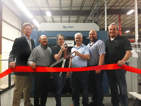 PaperWorks Celebrates Its Growth With A Koenig & Bauer Rapida 145 57-inch Seven-Color Press With Ribbon-Cutting Ceremony
