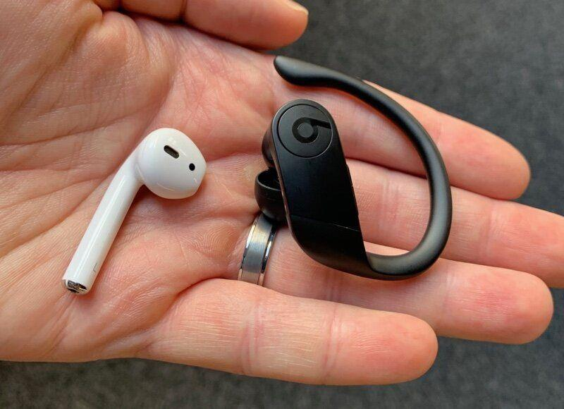 The Powerbeats Pro are larger than the AirPods. (Image: Dan Howley)