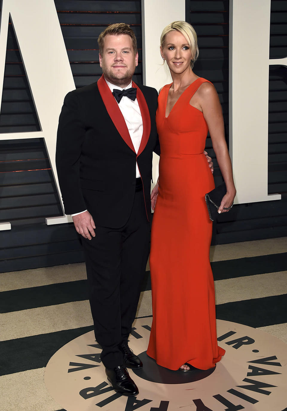 <p>James Corden, left, and Julia Carey arrive at the Vanity Fair Oscar Party on Sunday, Feb. 26, 2017, in Beverly Hills, Calif. (Photo by Evan Agostini/Invision/AP) </p>
