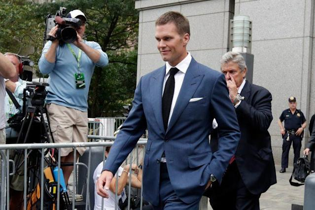 Tom Brady ended up serving a four-game suspension for deflate-gate. (AP)