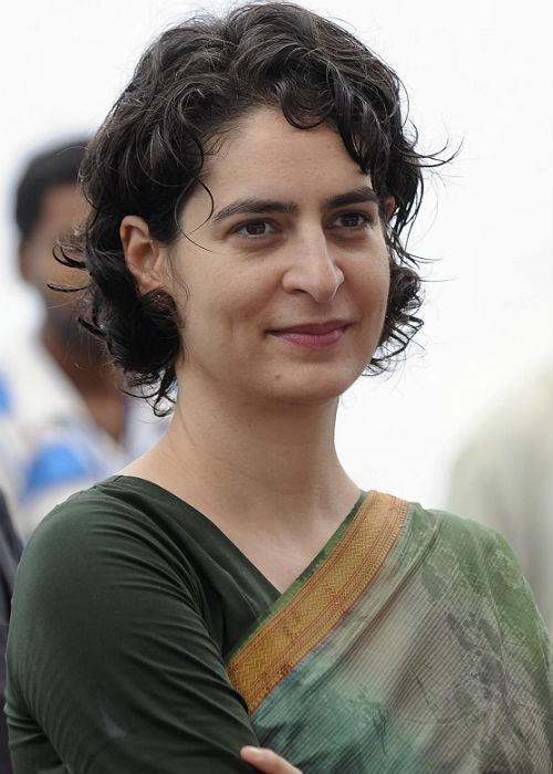 <b>Priyanka Gandhi:</b> Born to the Gandhi family, Priyanka Gandhi has a confidence and power that she holds within. Keeping her audience in mind, the fashionista always manages to be bang-on trendy. Be it a graceful sari or a crisp shirt and trousers, she carries each look with ease and élan.