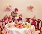 <p>From birthday gatherings to holiday soirées, kids parties were much simpler than they are now, and typically just included some streamers, a cake, and presents. </p>