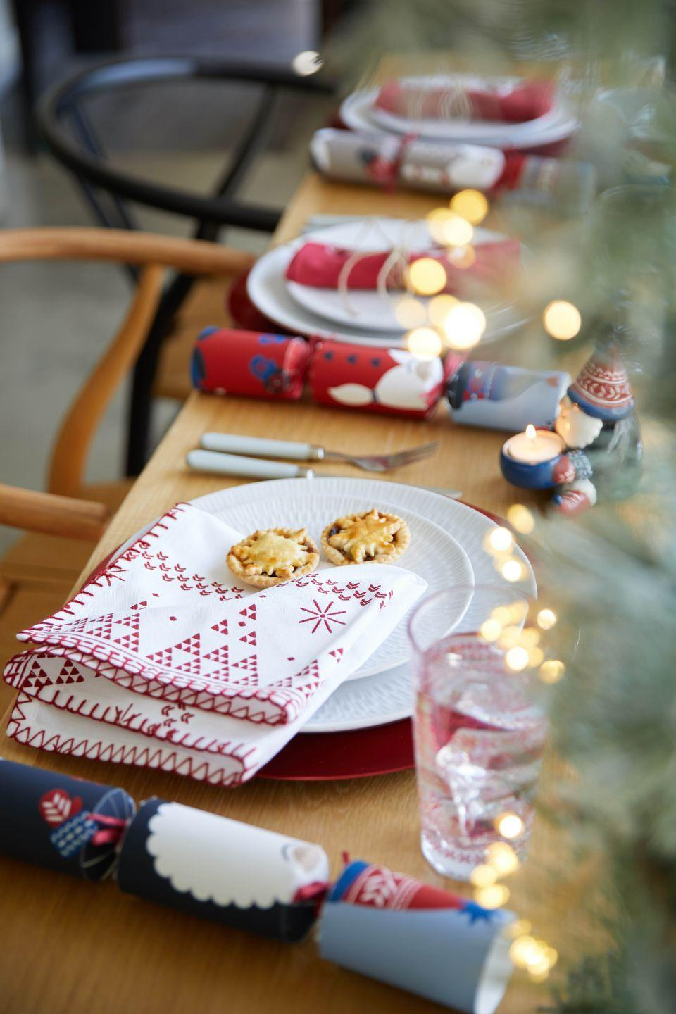 <p>Transform your Christmas table with new napkins, plastic-free crackers and fairy lights for decoration. Dunelm's Christmas range has everything you need to add sparkle to your evening meal. Tumblers start from just £1, while you can pick up plates for £4.</p>