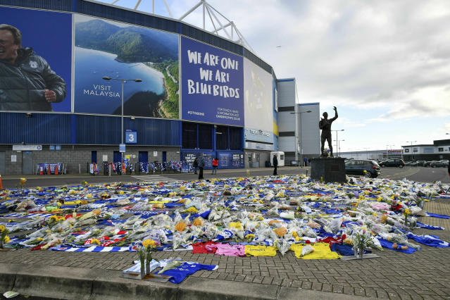 Failure to pay could see the Bluebirds given a three-window transfer ban. (Ben Birchall/PA via AP)