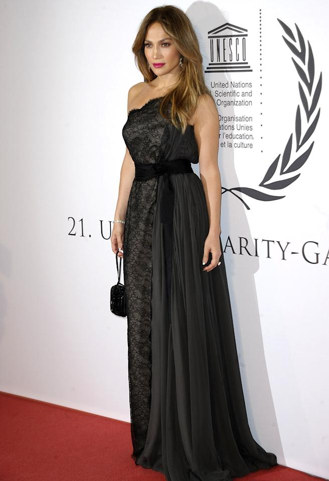 DUESSELDORF, GERMANY - OCTOBER 27:  Jennifer Lopez attends the 21th UNESCO charity gala at Maritim Hotel on October 27, 2012 in Duesseldorf, Germany.  (Photo by Luca Teuchmann/WireImage)