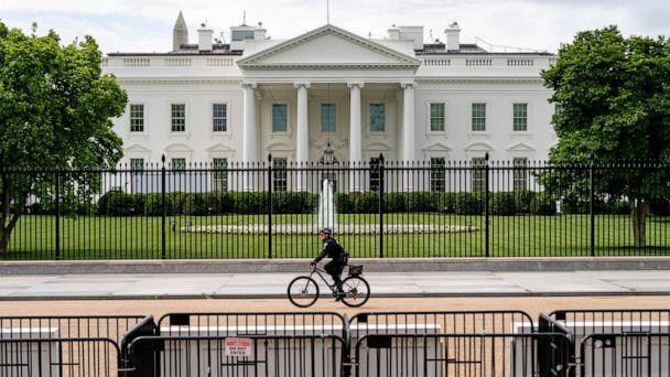 PHOTO: Lafayette Park, across the street from the White House, reopens in a limited capacity in Washington, May 10, 2021. (Andrew Harnik/AP)