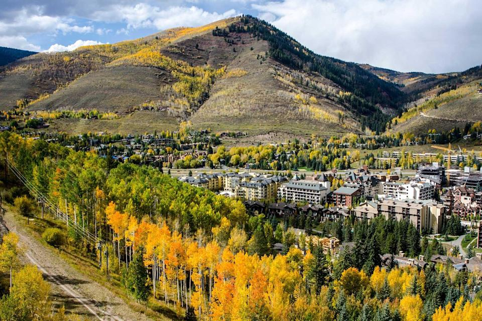Vail, Colorado in the Rocky Mountains