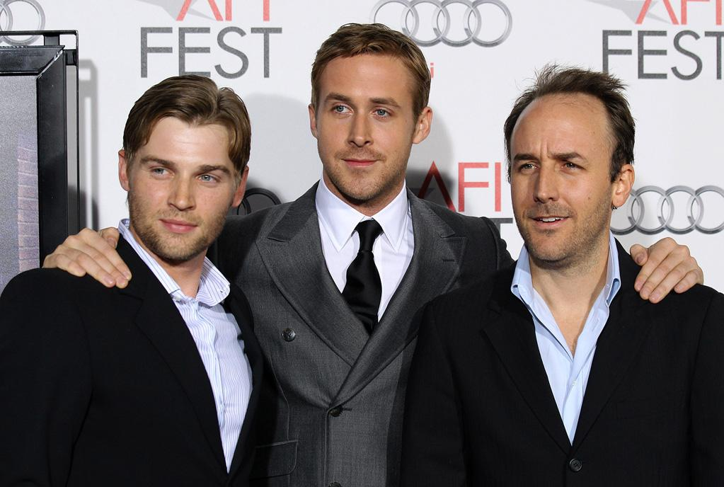 """<a href=""""http://movies.yahoo.com/movie/contributor/1804327276"""">Mike Vogel</a>, <a href=""""http://movies.yahoo.com/movie/contributor/1804035474"""">Ryan Gosling</a> and <a href=""""http://movies.yahoo.com/movie/contributor/1808872092"""">Derek Cianfrance</a> arrive at the AFI Fest 2010 screening of <a href=""""http://movies.yahoo.com/movie/1810124453/info"""">The King's Speech</a> on November 5, 2010."""