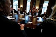 U.S. President Donald Trump holds a bipartisan meeting with legislators on immigration reform at the White House in Washington, U.S. January 9, 2018. REUTERS/Jonathan Ernst