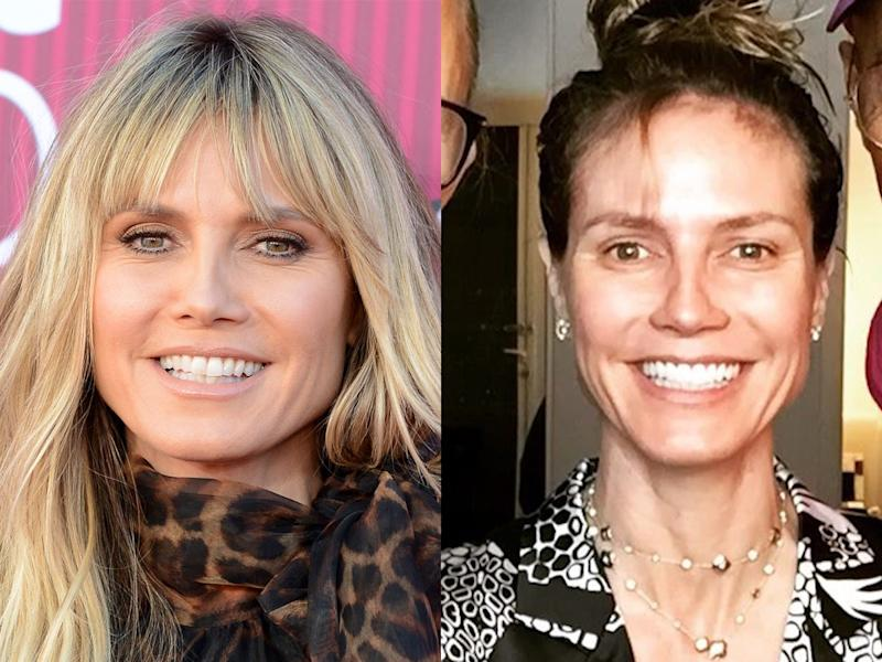 heidi klum no makeup instagram