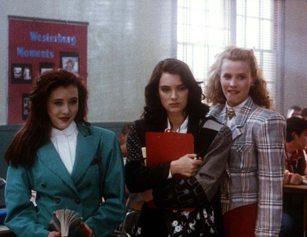 "<a href=""http://movies.yahoo.com/movie/contributor/1800010920"">Winona Ryder</a>, ""<a href=""http://movies.yahoo.com/movie/1800075456/info"">Heathers</a>""<br><br>When Veronica realizes that her ""friends"" are merely pushy, petty princesses, she decides to join forces with Jason Dean to deliver a wake up call. However, things get out of hand as a Drano overdose and a fatal football shooting lead to an explosive pep rally."