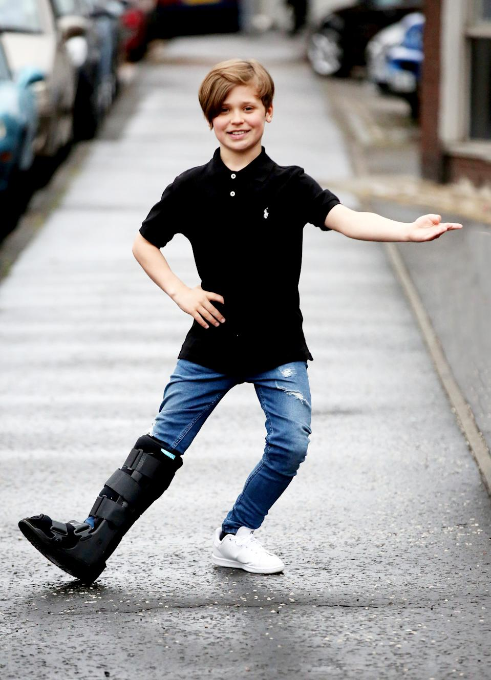 FILE PICTURE - Jack Burns a talented dancer from Greenock, Inverclyde.  A ballet dancer dubbed the next Billy Elliot has died suddenly aged just 14.  See SWNS story SWSCballet.  Jack Burns, an accomplished dancer who appeared in the TV drama Outlander in 2014, was found dead at home in Greenock, Inverclyde, on December 1.  He won a place at ballet school aged nine, appeared in ITV thriller Plain Sight, starred opposite Duncan James of Blue and was also in several BBC productions.   Jack trained at the Elite Academy of Dance in Greenock and the Royal Conservatoire in Glasgow and drew comparisons with Billy Elliot, a role he auditioned for in 2015.