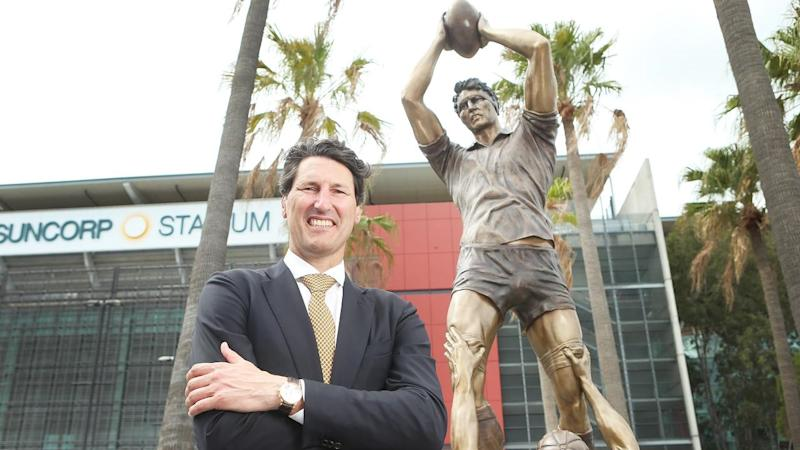 RUGBY JOHN EALES STATUE UNVEILING