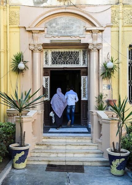 Egypt still has about a dozen synagogues, but like many of the country's monuments they need restoration (AFP Photo/MOHAMED EL-SHAHED)