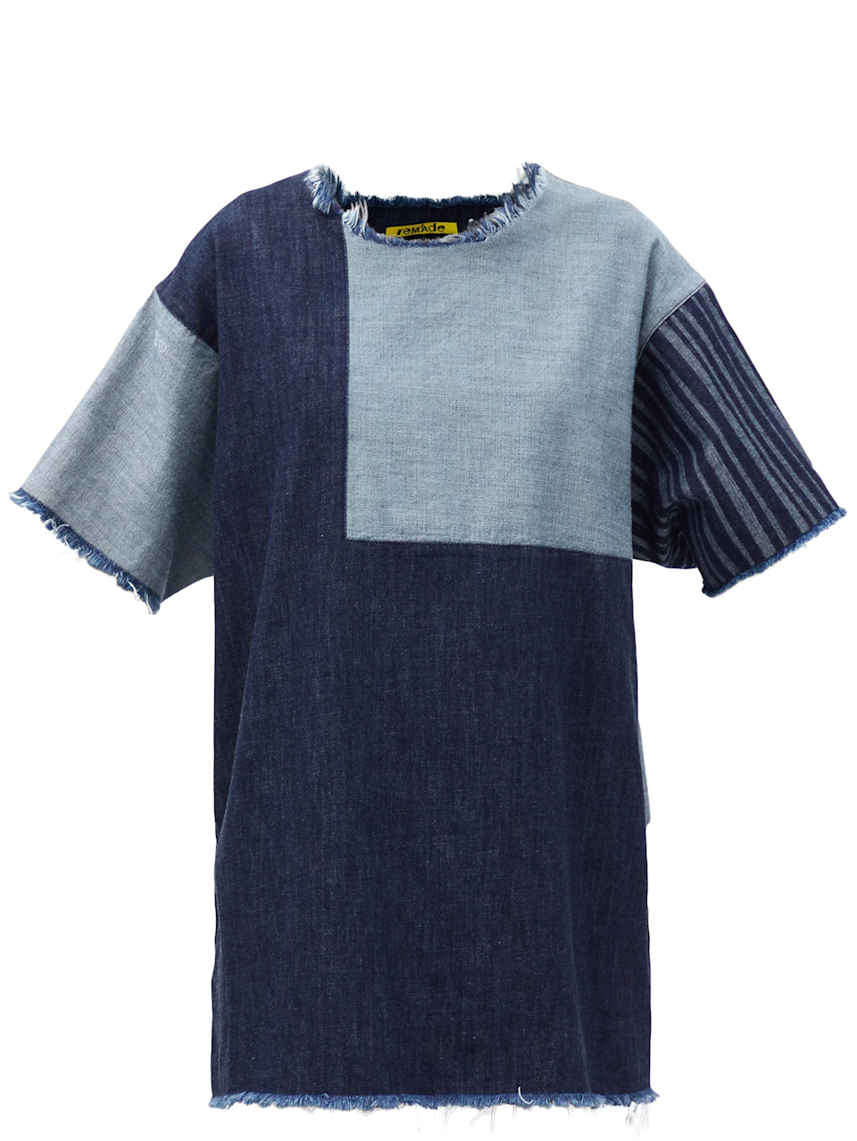 "<br><br><strong>Marques'Almeida</strong> Patchwork Upcycled Denim Mini Dress, $, available at <a href=""https://go.skimresources.com/?id=30283X879131&url=https%3A%2F%2Fwww.matchesfashion.com%2Fus%2Fproducts%2FMarques%2527Almeida-Patchwork-upcycled-denim-mini-dress-1391154"" rel=""nofollow noopener"" target=""_blank"" data-ylk=""slk:MatchesFashion"" class=""link rapid-noclick-resp"">MatchesFashion</a>"