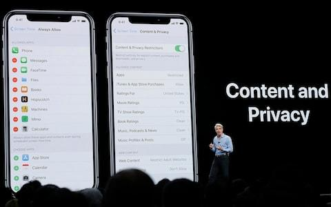 Craig Federighi, Apple's senior vice president of Software Engineering, speaks about content and privacy - Credit: AP