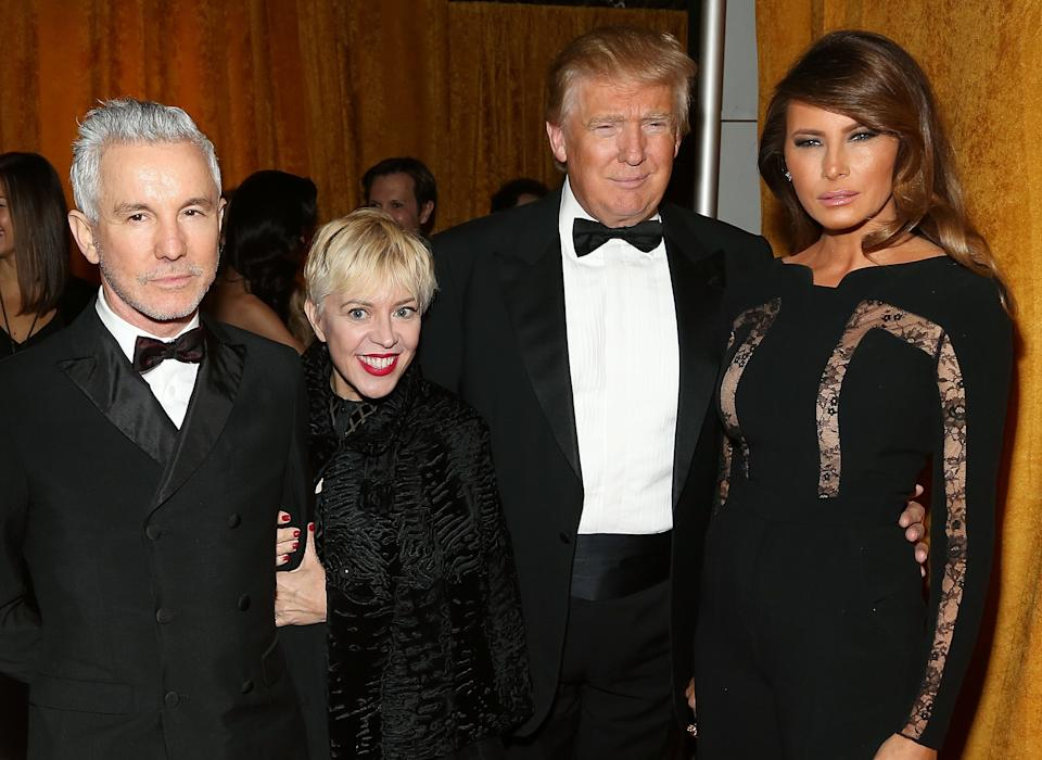 With Baz Luhrmann, Catherine Martin and Donald.
