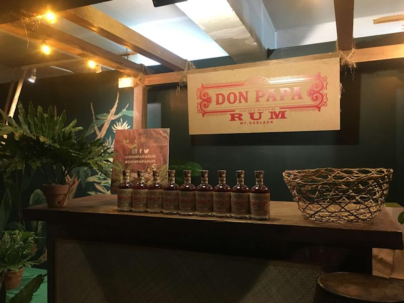Don Papa Rum's bar. (Photo: Therese Reyes)