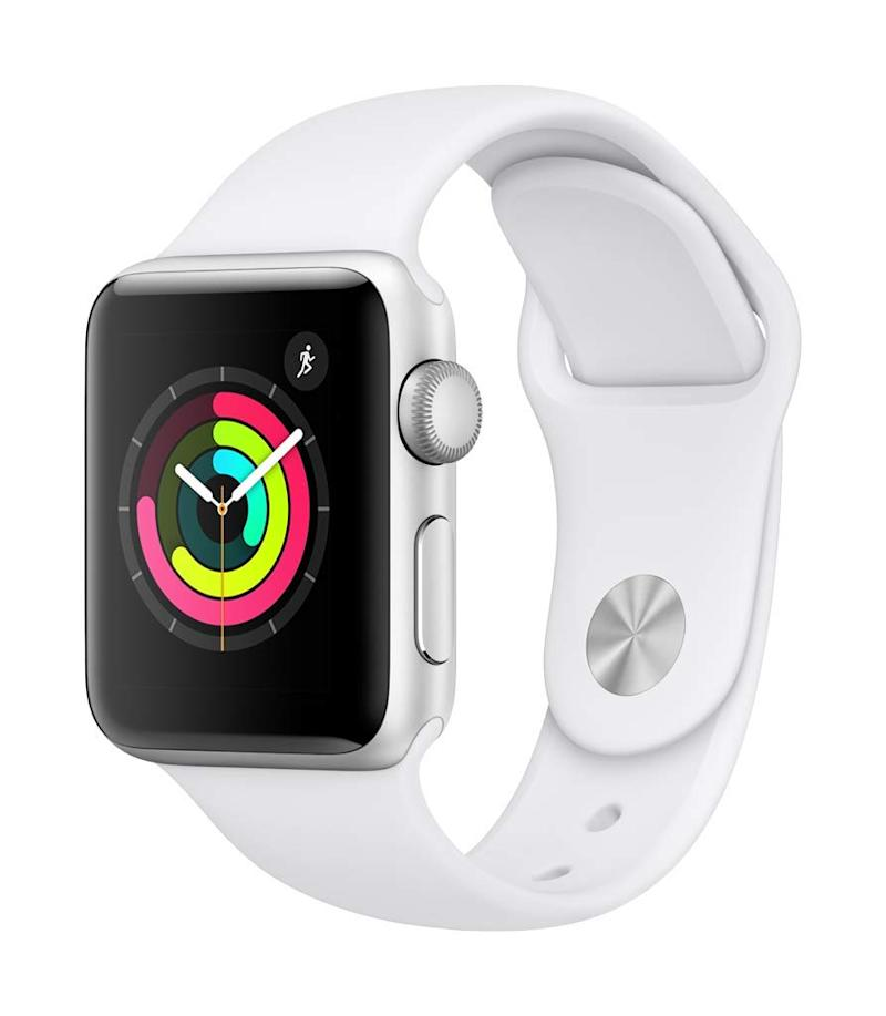 Apple Watch Series 3 (GPS, 38mm), Silver Aluminum with White Sport Band. (Photo: Amazon)