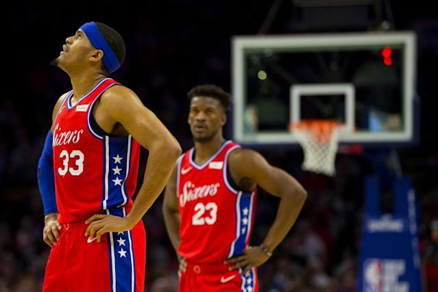 Tobias Harris' fantasy value could undergo a drastic change in his new city. (Photo by Mitchell Leff/Getty Images)
