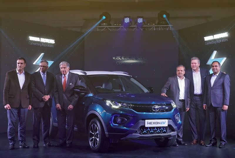 Launch of Tata Motors electric sport-utility vehicle Nexon EV in Mumbai