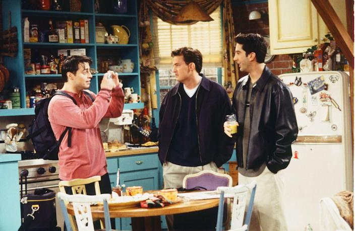 "<p>If a scene didn't start out at Central Perk, chances are it was in this colorful apartment kitchen, where at least two of the ""Friends"" lived at any given time. The open shelving served as the backdrop for Monica's cooking endeavors, plenty of holiday dinners and too many group hugs to count.</p>"
