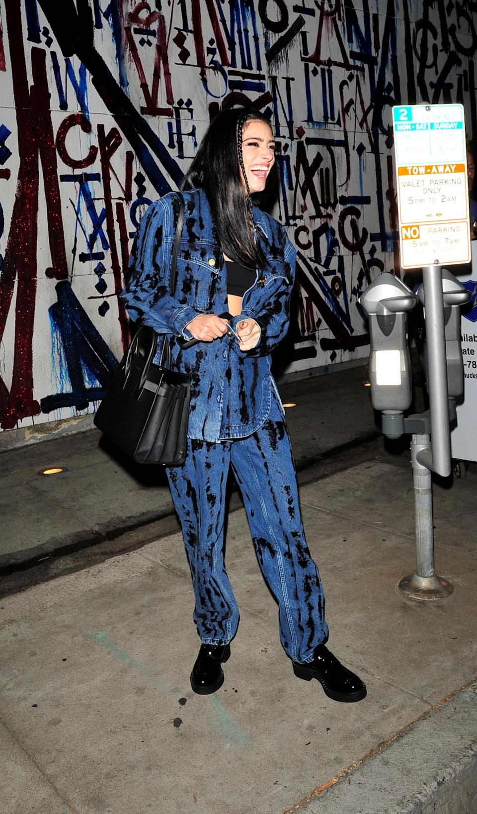 Dixie D'Amelio goes to dinner at Craig's in West Hollywood. - Credit: twoeyephotos/MEGA