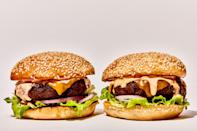 "A great burger is not about a fancy brioche bun or homemade ketchup. It's about achieving the ideal proportion of juicy, cheese-cloaked beef, sharp onion, crunchy lettuce, and sweet-tangy ""special sauce,"" wrapped in a soft toasted bun. This one nails it. <a href=""https://www.bonappetit.com/recipe/basically-burger?mbid=synd_yahoo_rss"" rel=""nofollow noopener"" target=""_blank"" data-ylk=""slk:See recipe."" class=""link rapid-noclick-resp"">See recipe.</a>"