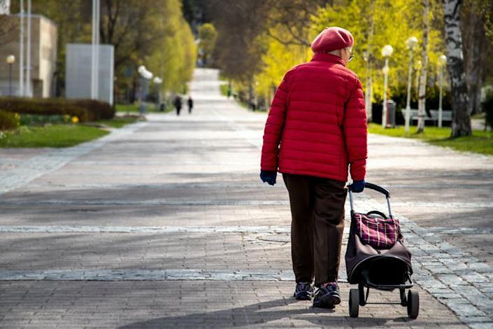 """<span class=""""caption"""">Walking to the shops is a great way of increasing physical activity.</span> <span class=""""attribution""""><a class=""""link rapid-noclick-resp"""" href=""""https://www.shutterstock.com/image-photo/elder-woman-walking-alone-park-1730086546"""" rel=""""nofollow noopener"""" target=""""_blank"""" data-ylk=""""slk:Bauwimauwi/ Shutterstock"""">Bauwimauwi/ Shutterstock</a></span>"""