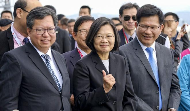 President Tsai Ing-wen is seeking a second term in next month's election. Photo: CNA