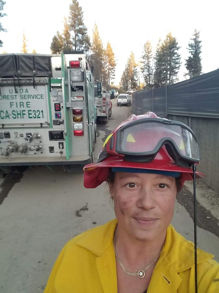 Astrid Dobo, the volunteer fire chief in Post Mountain, Calif., also manages legal cannabis farms.