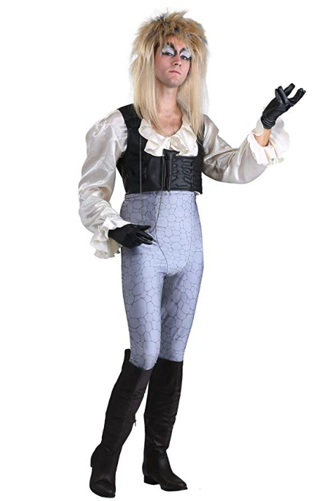 """<p><strong>Fun Costumes</strong></p><p>amazon.com</p><p><a href=""""https://www.amazon.com/dp/B07JXSCY7N?tag=syn-yahoo-20&ascsubtag=%5Bartid%7C10055.g.4544%5Bsrc%7Cyahoo-us"""" rel=""""nofollow noopener"""" target=""""_blank"""" data-ylk=""""slk:Shop Now"""" class=""""link rapid-noclick-resp"""">Shop Now</a></p><p>You'll be ready to dance the magic dance at every Halloween party you show up at. Make it a couple's costume by having your lady <a href=""""https://www.amazon.com/Labyrinth-Adult-Sarah-Costume-Medium/dp/B07GRCJY8V/?tag=syn-yahoo-20&ascsubtag=%5Bartid%7C10055.g.4544%5Bsrc%7Cyahoo-us"""" rel=""""nofollow noopener"""" target=""""_blank"""" data-ylk=""""slk:dress up as Sarah"""" class=""""link rapid-noclick-resp"""">dress up as Sarah</a>.</p>"""