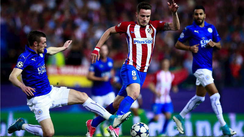 Saul Niguez Jamie Vardy Atletico Madrid Leicester City UCL 12042017
