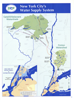 Map of NYC water supply system