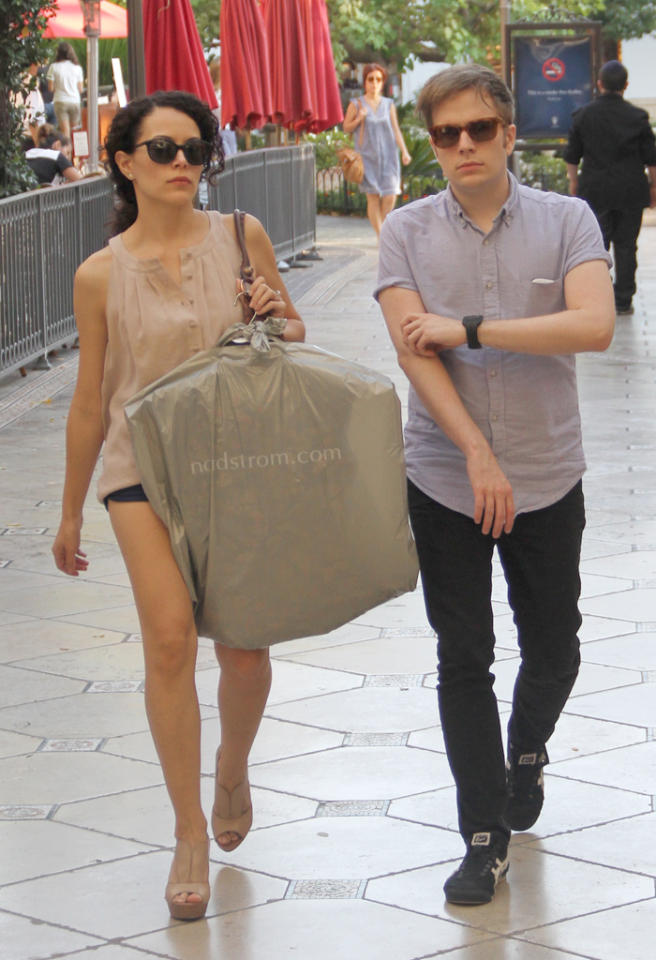 EXCLUSIVE: Patrick Stump goes shopping with his rumoured girlfriend at The Grove in Hollywood, CA.