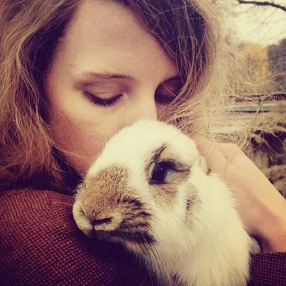 """<p>""""One could argue I'm the luckiest Easter bunny on the planet,"""" the <a rel=""""nofollow"""" href=""""https://www.instagram.com/p/BS9mhBwhqw0/"""">actress's fluffy friend,</a> appreciative of the hugs</p>"""