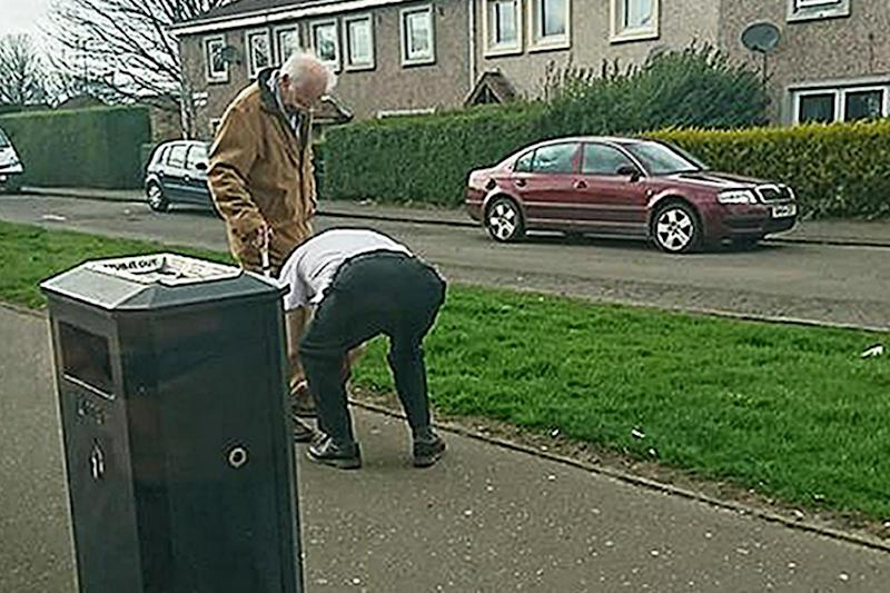 Kind gesture: A bus driver who has been praised for stopping his vehicle and getting out to help an elderly man tie his shoelace: PA