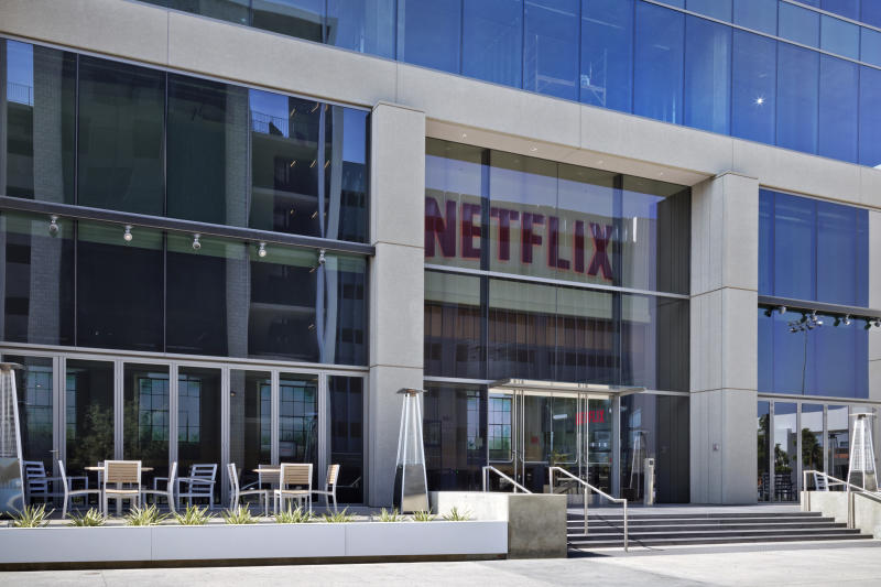 The entrance to a Netflix office building.