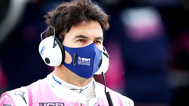 Seen here, Sergio Perez was ruled out of the British GP after his positive virus test.
