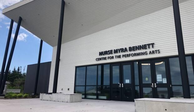 The state-of-the-art Nurse Myra Bennett Centre for the Performing Arts opened for its first showing Friday. (Colleen Connors/CBC - image credit)