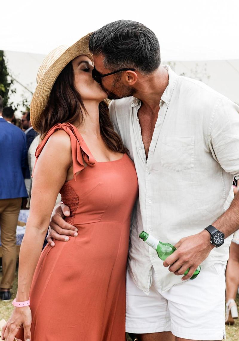 Sam and Snez packed on the PDA at the Portsea Polo in Melbourne in January. Source: Getty
