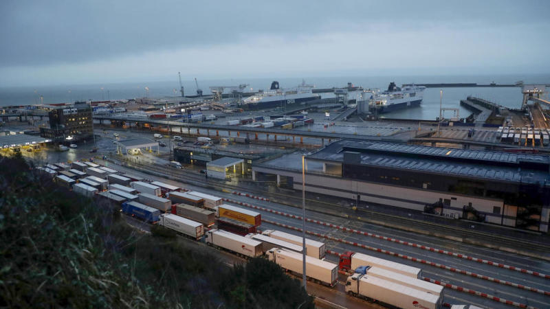 Striking workers paralyse French port of Calais, block cross-Channel transport