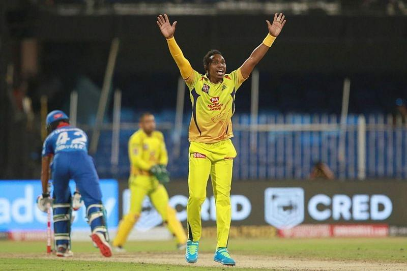 Dwayne Bravo couldn't bowl the last over for CSK against the Delhi Capitals [P/C: iplt20.com]