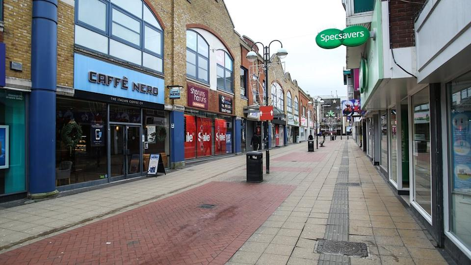 Crawley town centre in Sussex